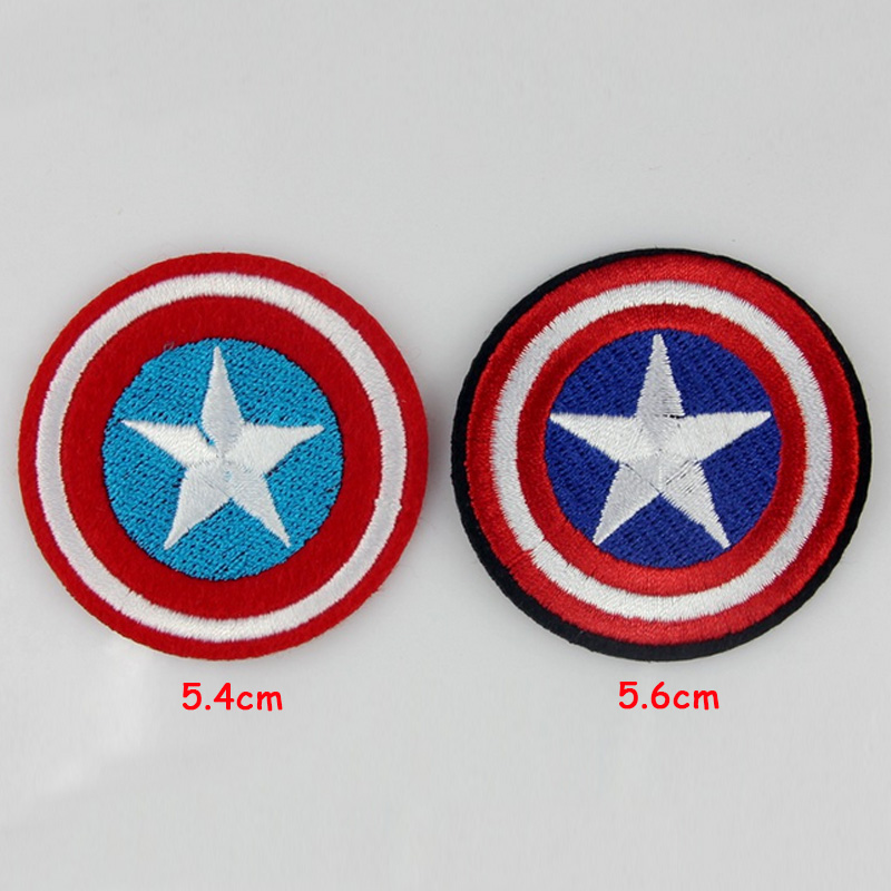 4pcs <font><b>Captain</b></font> <font><b>America</b></font> <font><b>Shield</b></font> US Movie Embroidered <font><b>Patch</b></font> for Clothes Bag Iron on <font><b>Patches</b></font> Clothing Brand Logo Appliques Motif Badge