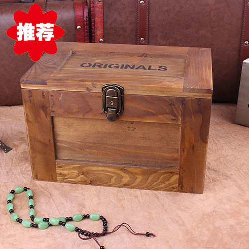 Do The Old Grocery Retro Wood Antique Wooden Storage Box