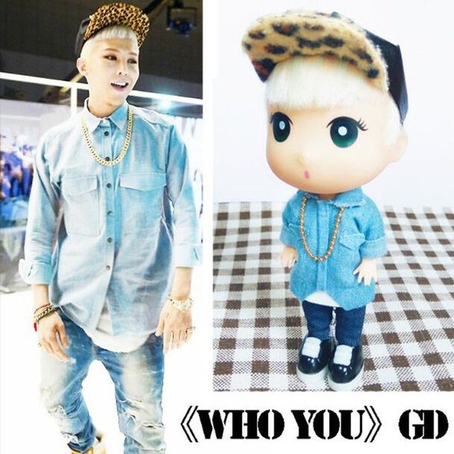 """Quem Você GD BigBang KPOP G-Dragão Limitado Q Figura Presente Decor 13 cm/5 """"Coleção Toy"""