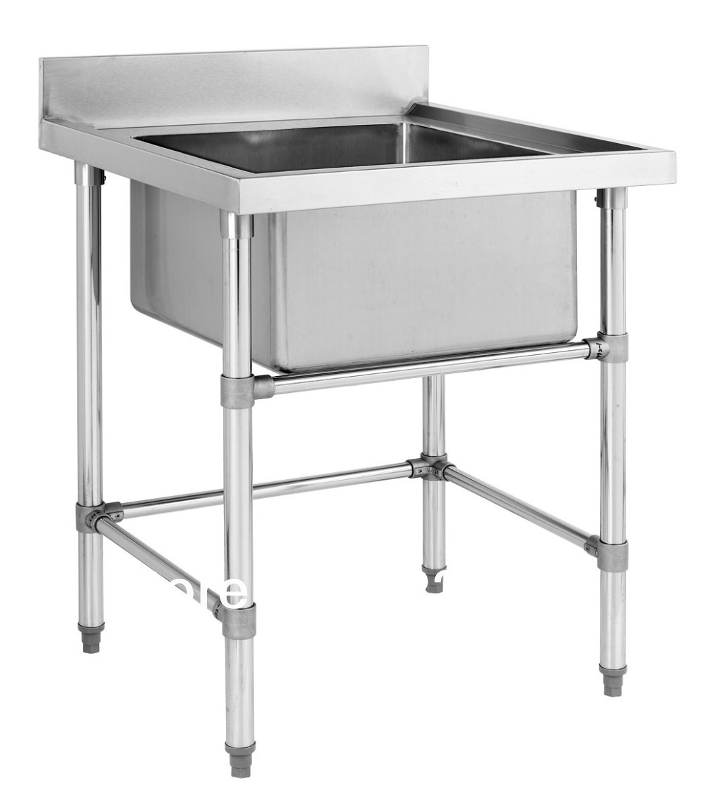 Stainless Steel Big Single Sink Bench For Commercial
