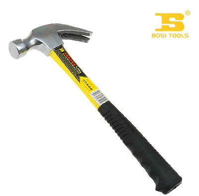 Bosi Tool 0.5kg Double Color Fiber Handle Claw Hammer Carbon Steel  цены