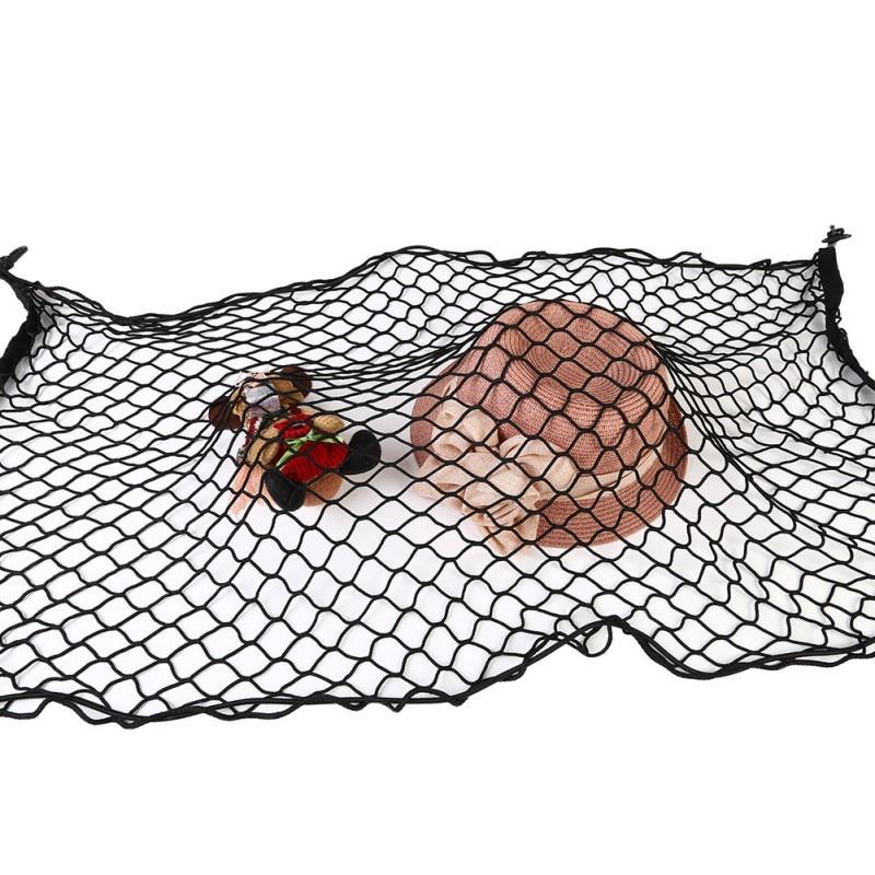 110 x 60cm Universal Car Trunk Luggage Storage Cargo Organiser Nylon Elastic Mesh Net With 4 Plastic Hooks 2028