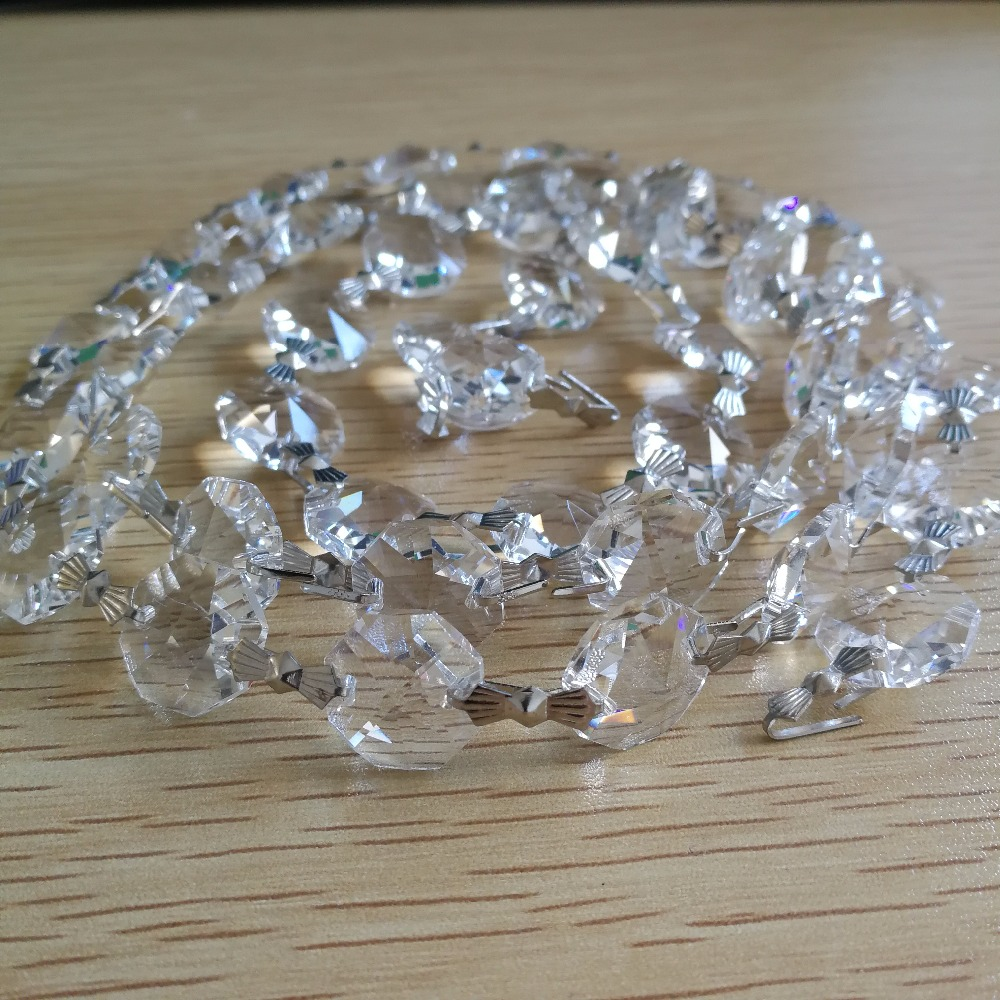 50Meters Glass 14mm Beads Crystal Garland Strands For ...