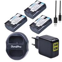 DuraPro 3pcs LP E6 LP E6N 2000mAh LP E6 LPE6 Camera Battery USB Dual Charger AC