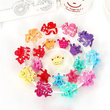 Children Bow Mini Claw Pretty Hairclips Cute Accessory Flower Starwberry Cherry Butterfly Kids Girl Hair Accessories 6Pcs/Lot(China)