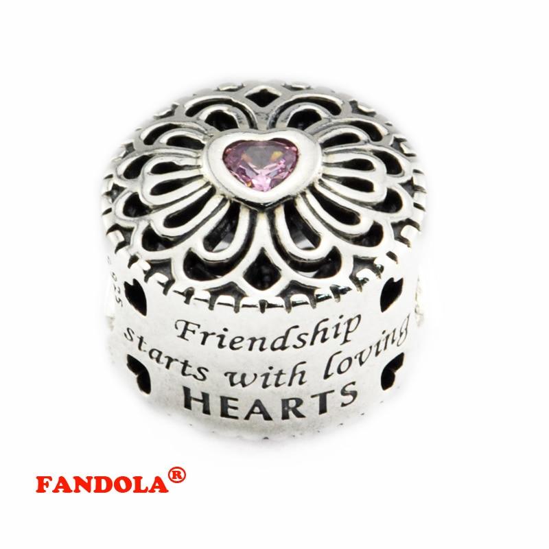 pandora charms amistad