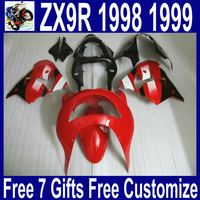 Высокое качество деталей for1998 1999 Kawasaki zx9r обтекатели на заказ, цвет: красный, черный, белый, 98 99 ниндзя ZX 9R обтекатель комплект из АБС пластика