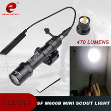 Element SF M600B Mini Scout Light LED Weapon Flashlight With Remote Tail Switch EX 410 wipson sf m600b mini scout light for tactical gun flashlight led weapon light pistol flashlight with remote tail switch