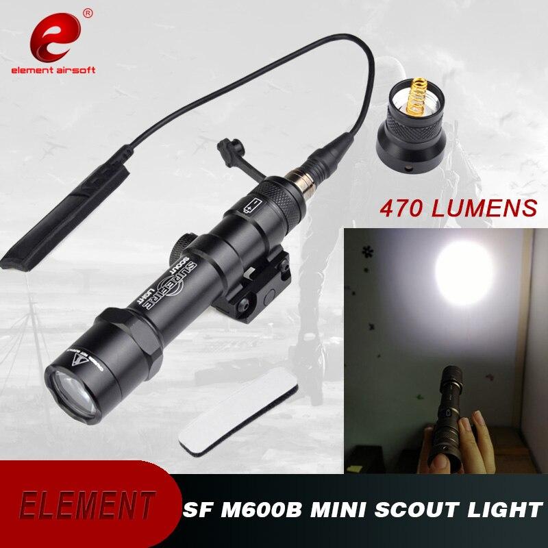 Airsoft Element Surefir M600B arme lumière pistolet avec pression à distance 470 Lumen LED M600 lampe de poche tactique EX410