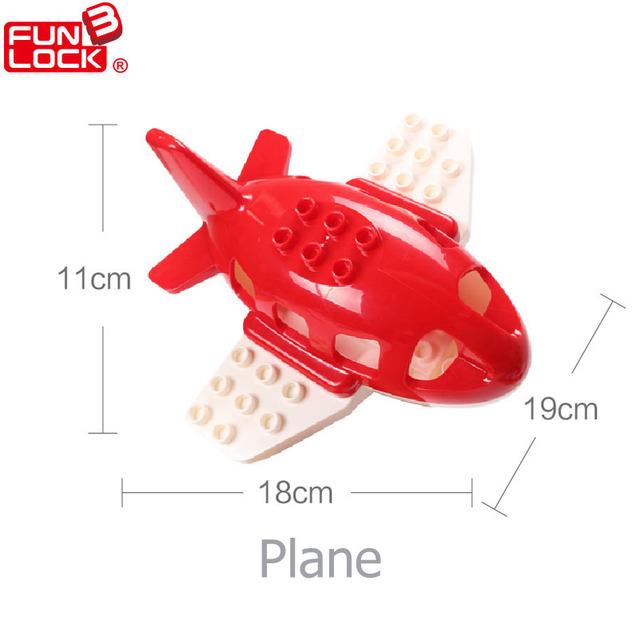 Avión Duplo Bloques de Vehículo de Transporte de Coches Regalo de Juguetes Educativos Para Los Niños Del Cabrito