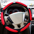"Sandwich Sport Type Car Steering Wheel Cover Anti-Slip 38CM 15""ix35 ix25 k2 k3 ....winter high quality car steering wheel covers"