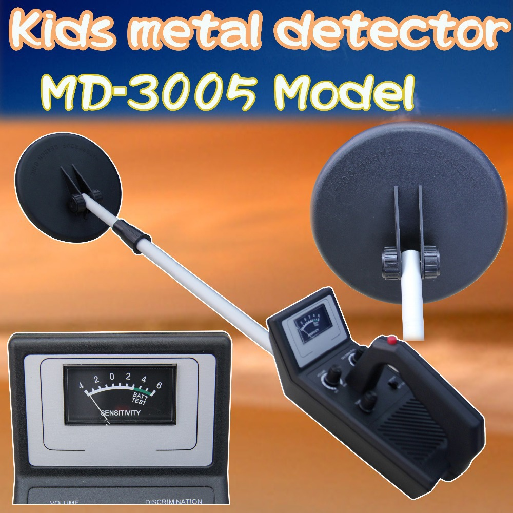 Free Shipping!MD-3005 Ground Metal Detector Gold Digger big promotion md 1005 ground searching metal detector for kids hobby