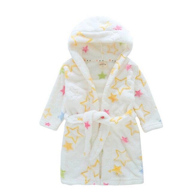 Children's Bathrobe Girls Pajamas Baby Sleepwear Roupao Kid Dressing Gown Boy Bath Robe Child Hooded Poncho Pink Towel Bathrobe