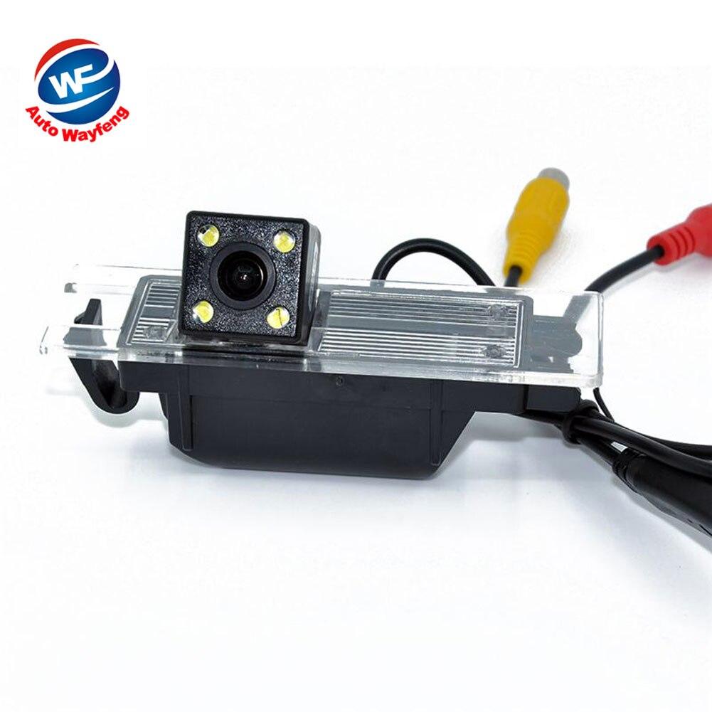 Cámara trasera de visión nocturna 4 LED HD CCD Chip para OPEL Astra H/Corsa D/Meriva A/Vectra C/Zafira B, FIAT Grande