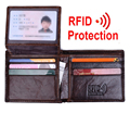 MRF8  Genuine Leather RFID Blocking Wallets Mens Wallet black brown color card holder for ID and driving licence card