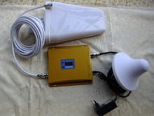 GSM усилитель сигнала 3 Г сигнал повторитель с ЖК-дисплеем, GSM3G двухдиапазонный усилитель сигнала с антенной кабель полный комплект