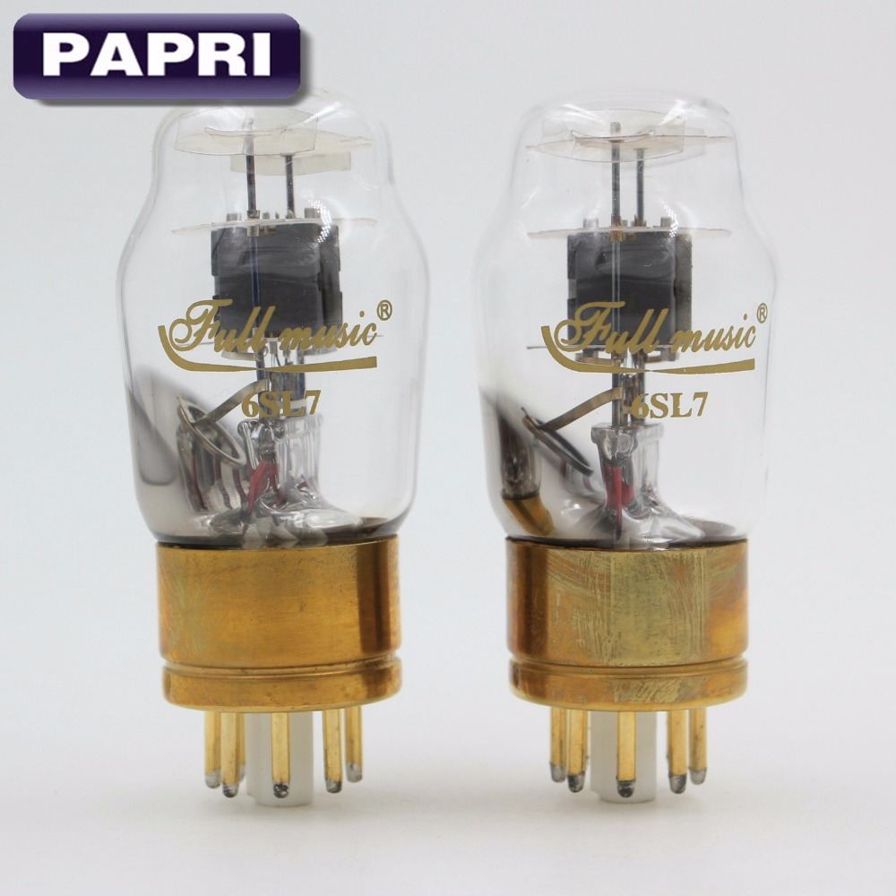 PAPRI 1Pair TJ Full Music 6SL7/ECC35 Vaccum Tube Replace 6N9P For Audio Power Amplifier Factory Tested Matched Pair