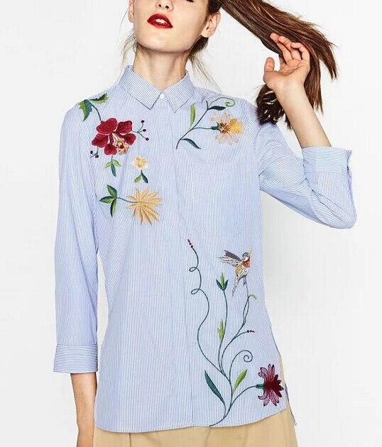 Длинная рубашка женская с вышивкой