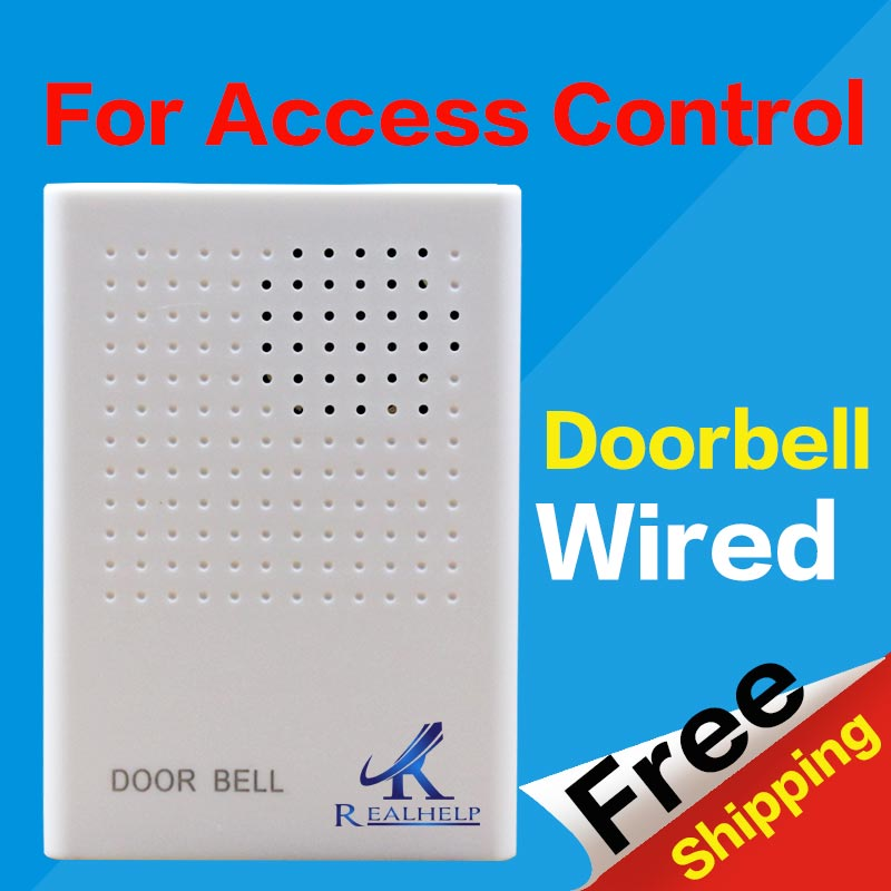DC 12V Ring DING DONG Ringer Access Control Wired Doorbell Musical External Musical For Home Office Access Control System