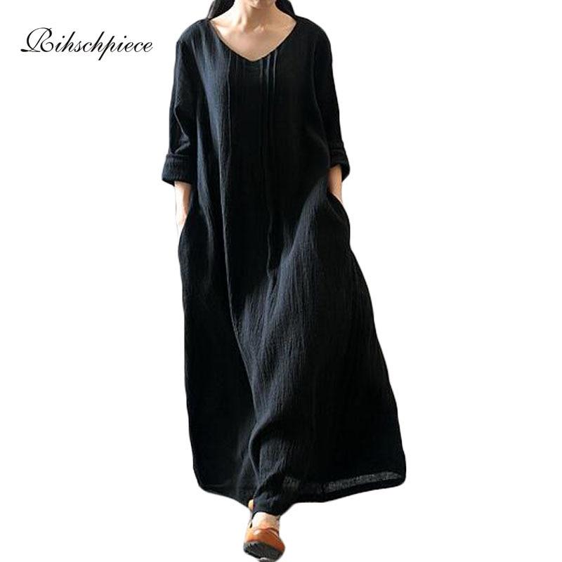Online Get Cheap Black Cotton Maxi Dress -Aliexpress.com - Alibaba ...