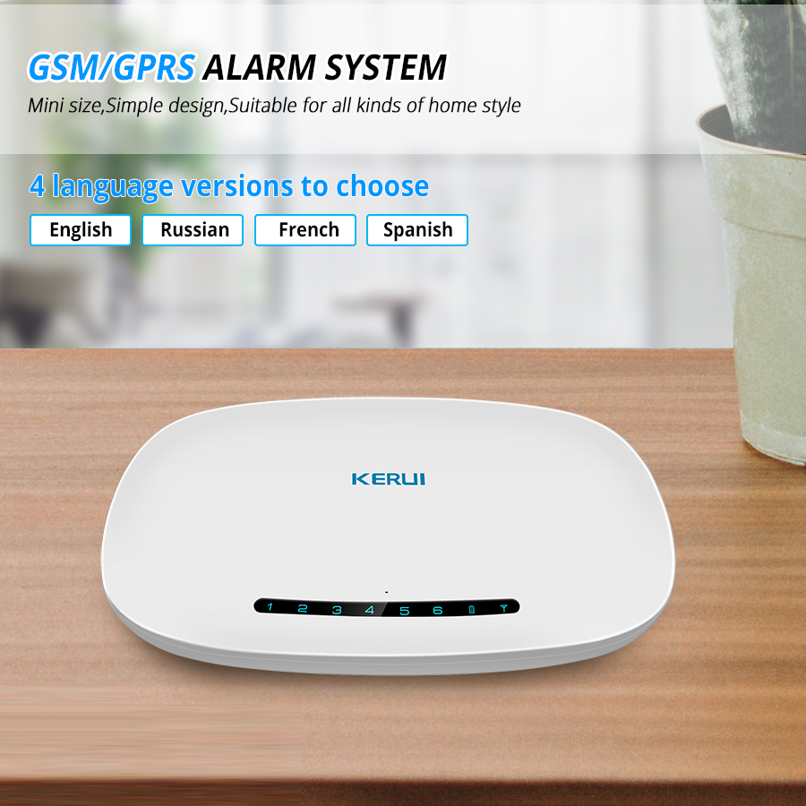 Image 5 - KERUI W19 Wireless Phone APP Remote Control Message Push Auto Dial Home Security GSM Alarm System with IP Camera Solar Siren Kit-in Alarm System Kits from Security & Protection