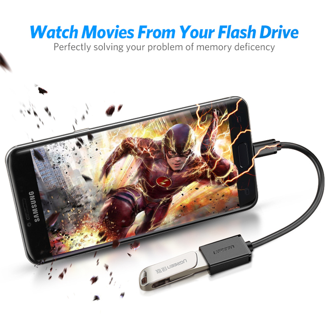 Ugreen Micro USB OTG Adapter kabla dla Xiaomi Redmi uwaga 5 Micro USB złącze dla Samsung S6 Tablet Android USB 2.0 OTG Adapter