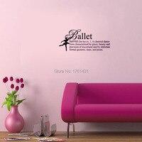 Ballet Definition Girls Dance wall decals vinyl stickers home decor bedroom wallpaper wall sticker girl quote