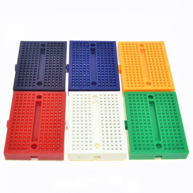 Free Shipping wholesale 1pcs SYB-170 Mini Solderless Prototype Experiment Test Breadboard 170 Tie-points 35*47*8.5mm