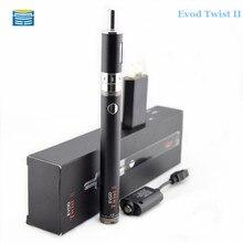 บุหรี่อิเล็กทรอนิกส์EvodบิดII starter kit EvodบิดIIแบตเตอรี่1.8มิลลิลิตรขดลวดคู่การควบคุมการไหลของอากาศที่สามารถปรับเครื่องฉีดน้ำ