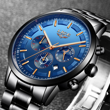 Men Fashion Sport Watch, Men's Watches Top Brand Luxury Full Steel Waterproof Watch