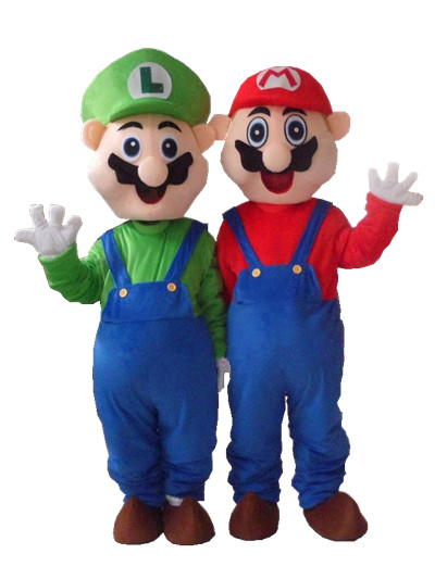 New Professional Super Mario Brothers Fancy Dress Mascot Costume Adult Size