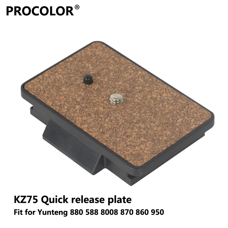 DSLR Camera 1/4 Screw Mount Quick Release Plate for Yunteng 880 588 8008 870 860 950 Panoramic Head Professional Tripod Head