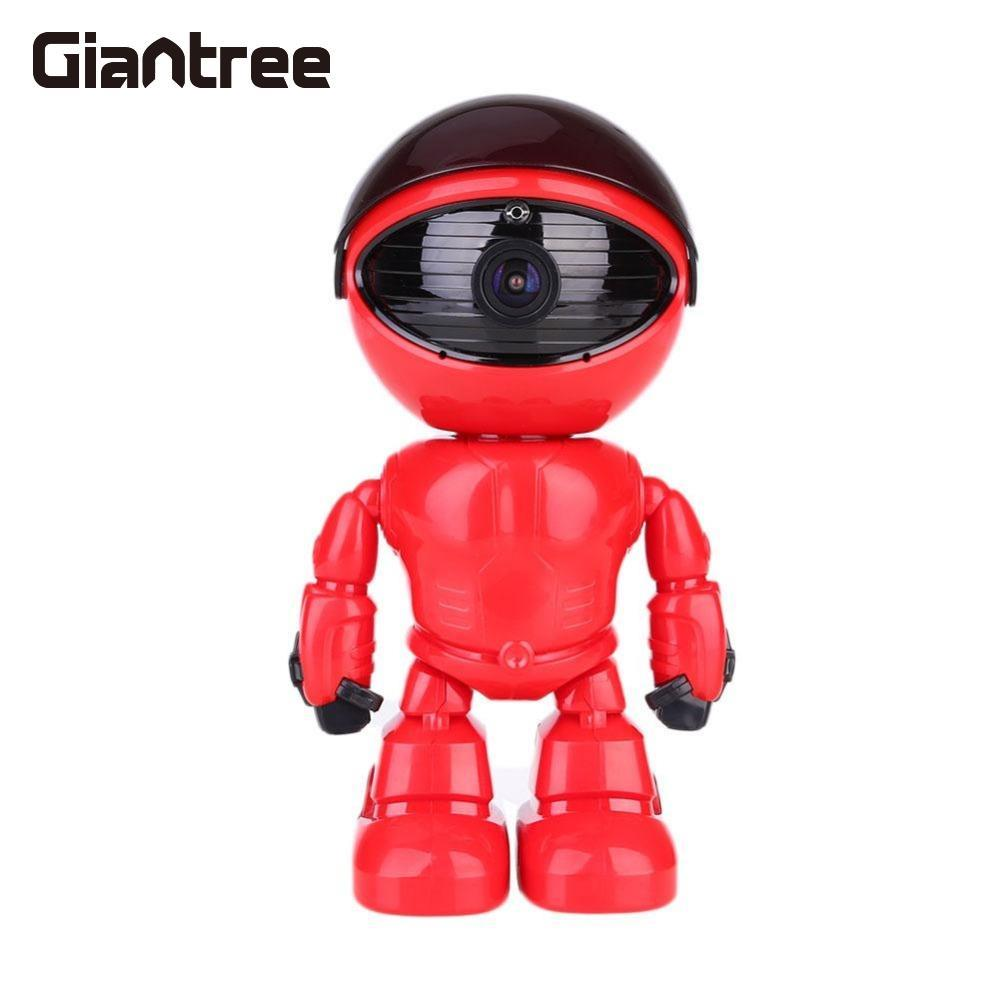 giantree Cute Network 360 degrees Robot Baby Monitor 960P HD Wireless Mini WIFI Two Way Audio Night Vision US/ EU Plug