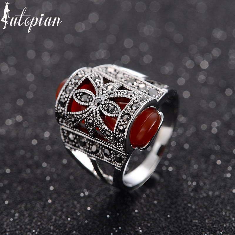 iutopian brand medieval style vintage retro peacock rings anels for women bohemia antique color wholesale - Medieval Wedding Rings