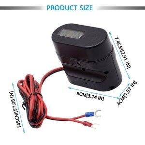 Image 4 - אופנוע WUPP מצית שקע USB הכפול מטען מהיר מד מתח דיגיטלי שעון מתג שליטה עמיד למים OCP