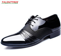 Men Dress Wedding Leather Shoes Zapatos Hombre Vestir Mens Business Flat Breathable Low Top Formal Office