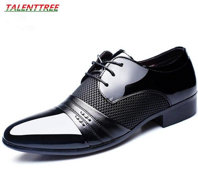 Мужские модельные свадебные кожаные туфли zapatos hombre vestir мужские Бизнес плоской подошве дышащие Низкие Топ вечерние офисные туфли большой размер 38-48