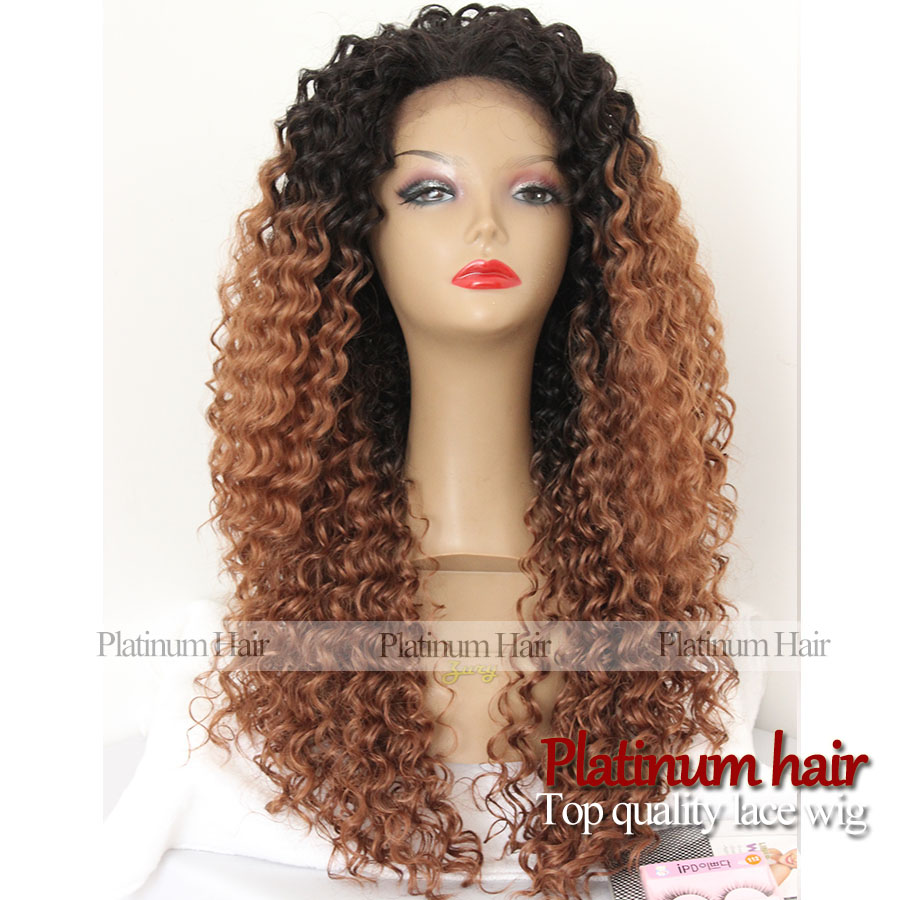 Curly Brown Hair Wig Realistic Lace Front Wig