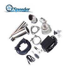 ESPEEDER Universal 3.0″ Stainless Steel Boost Activated Exhaust Cutout System E-Cut Vacuum Pump Valve With Remote Control