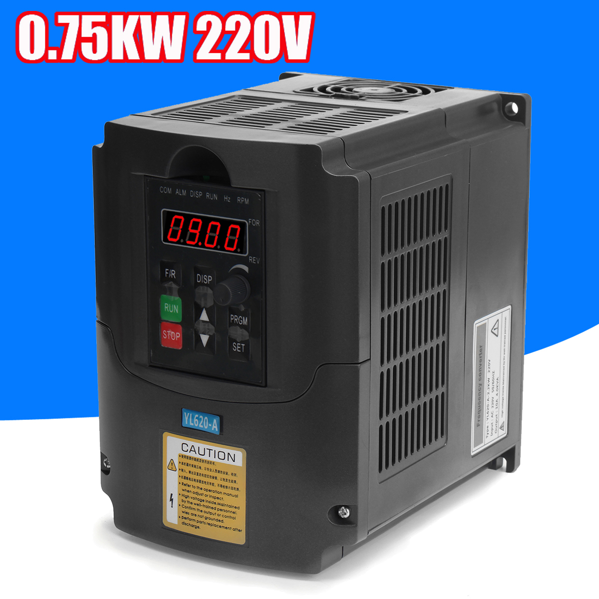 0.75kw 220V AC Variable Frequency Inverter Converter 3 Phase Output 50-60Hz Single Phase Input Space Voltage Vector Modulation 110v 2 2kw ac variable frequency inverter converter 3 phase output single phase input space voltage vector modulation