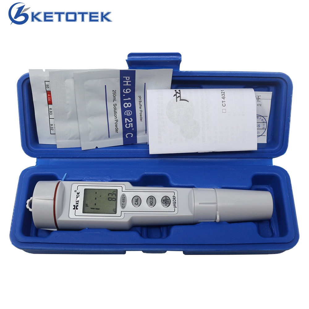 pH & ORP Aquarium Test 0.0-14.0pH pH Meter ORP Tester 500mV Oxidation-Reduction Potential Gauge portable pen orp meter redox potential tester negative potential pen tester orp meter