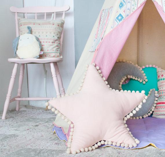 Crianças decoração do quarto almofada criativa nuvem estrela lua forma travesseiros série tenda collocation fotografia adereços presente de aniversário