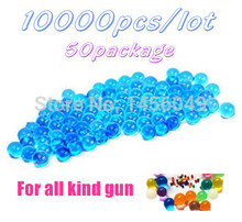 цена на Free Shipping 10000pcs/lot 50 Package Soft Crystal Water Paintball Bullet Gun Toy Accessories CS Game Pistol Nerf Gun Bullet