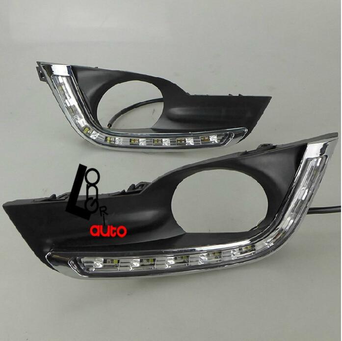 автомобиль для укладки автомобиль аксессуары супер Белый высокого качества специальные светодиодные дневные ходовые огни для Nissan теана 2013