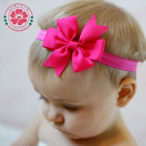 20pcs/lot hair Bow Headband DIY Grosgrain Ribbon Bow Elastic Hair Bands Tie For Newborn kids Hair Accessories 567
