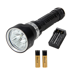 6000Lm Scuba Diving Flashlight 4x CREE XML U2 LED SolarStorm Waterproof Torch Light +2x18650 +Charger