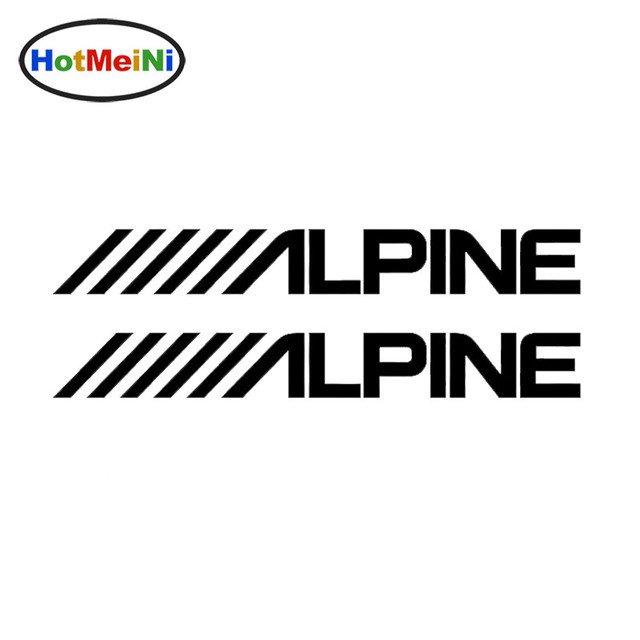 Hotmeini car sticker decoration windshield bumper decal smooth surface alpine audio speakers stereo amplifier sounds 20 5