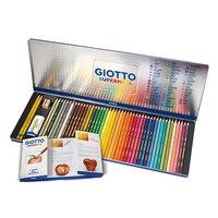 GIOTTO 48 stks 46 kleuren olie kleurpotlood  geschilderd geschilderd lood en ijzeren doos.| |   -