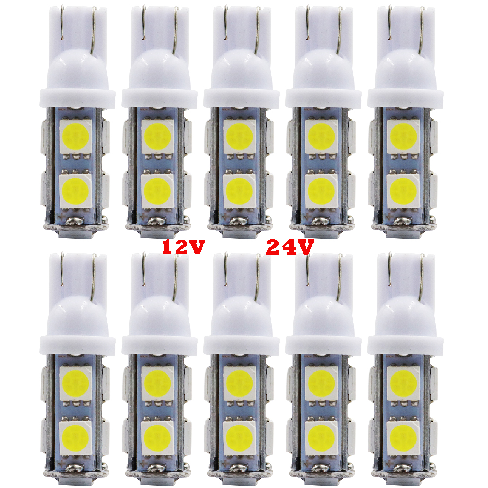 PAIR 2SMD 2 5050 SMD LED T10 W5W CANBUS GREEN INTERIOR DOME WEDGE 12V LIGHT BULB