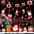 DiY Christmas Decor New Snow Town Christmas Wall Stickers Window Glass Decorative Wall  2016 New Year Children Gift